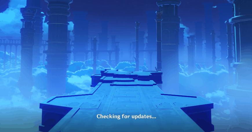 Genshin Impact Checking for Updates