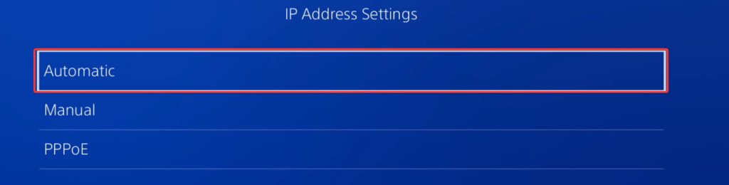 Here, you can adjust the specific IP Address Settings