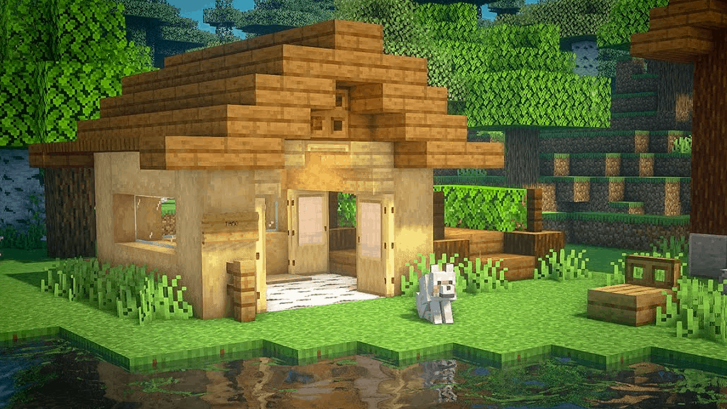 A doghouse is one of the many cool things to build in Minecraft!