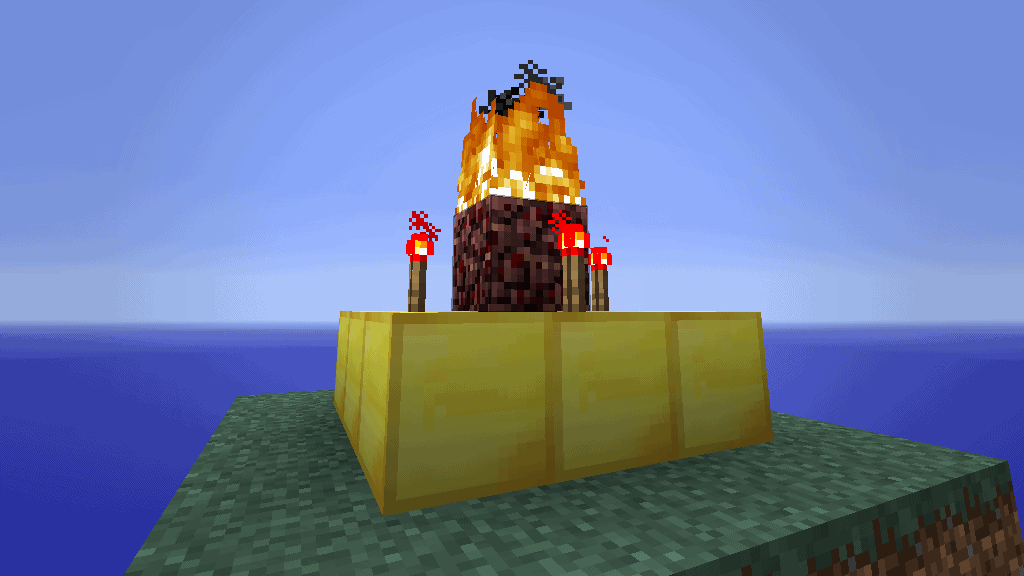 This Herobrine Altar is one of many epic Minecraft ideas.