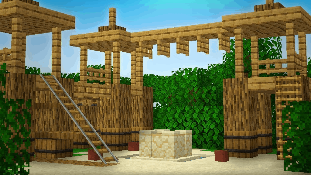 This working playground is one of the fun things to build in Minecraft!