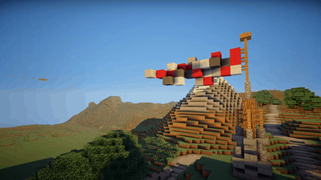 This flag is one of many epic Minecraft ideas.
