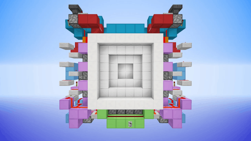 This 6x6 secret door is one of many epic Minecraft ideas.