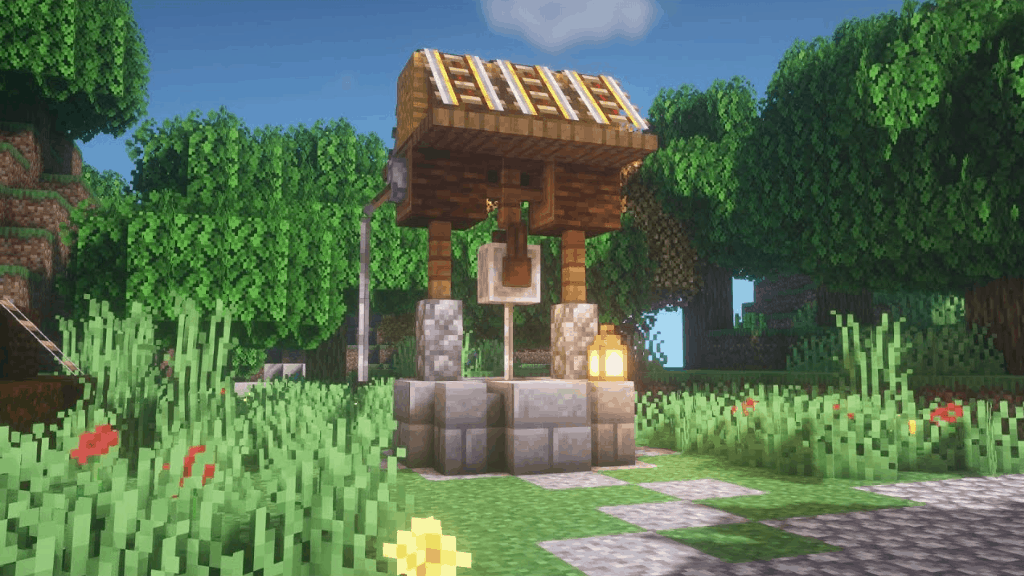This well is one of many amazing Minecraft Building Ideas.