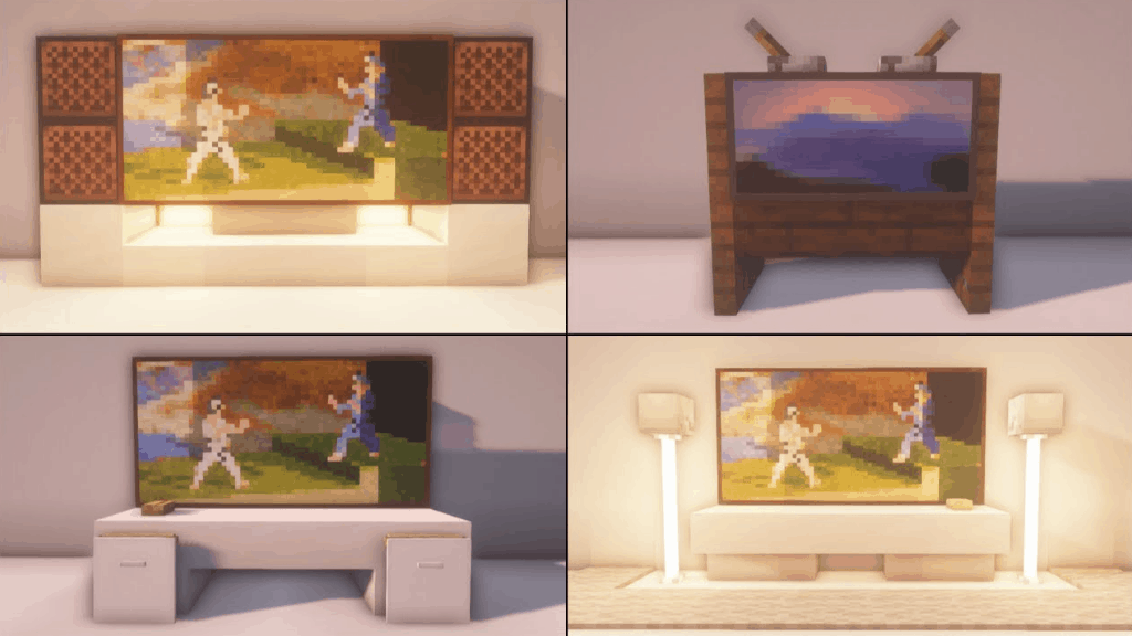 These TVs are a great idea for your next Minecraft projects.