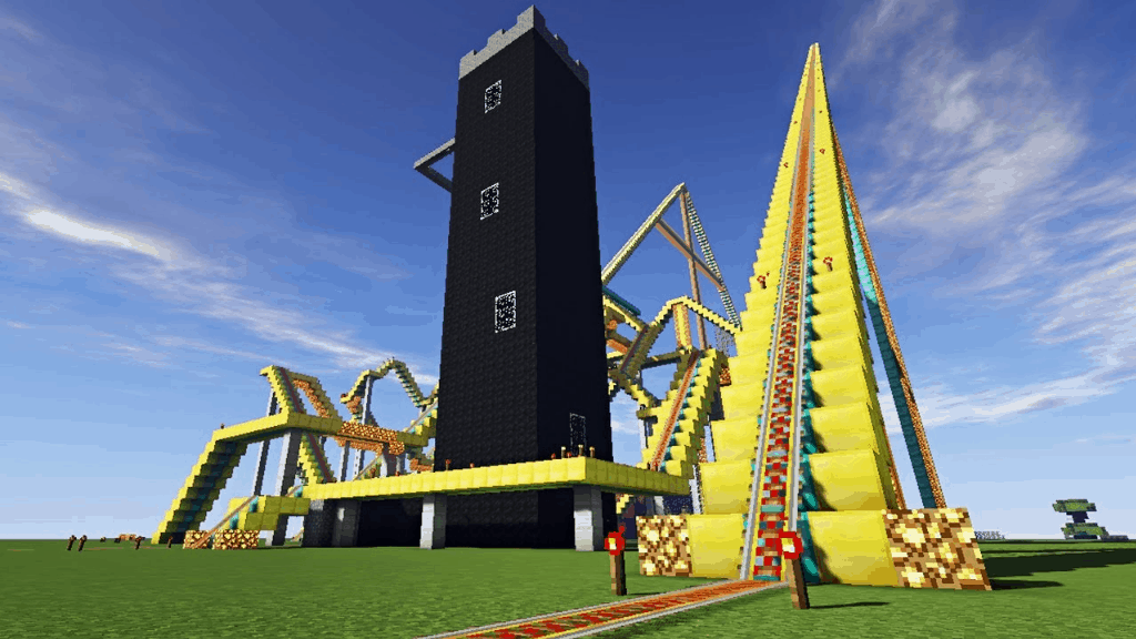 This rollercoaster is one of many amazing Minecraft Building Ideas.