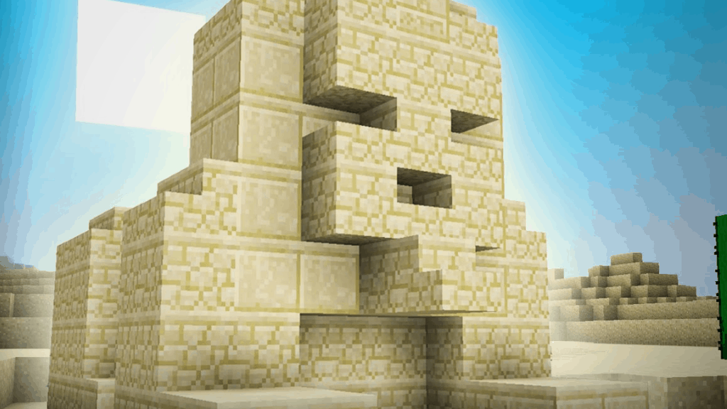 This Sphinx is one of the fun things to build in Minecraft!