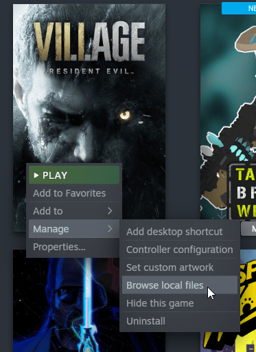 You can browse the local files of any game in Steam