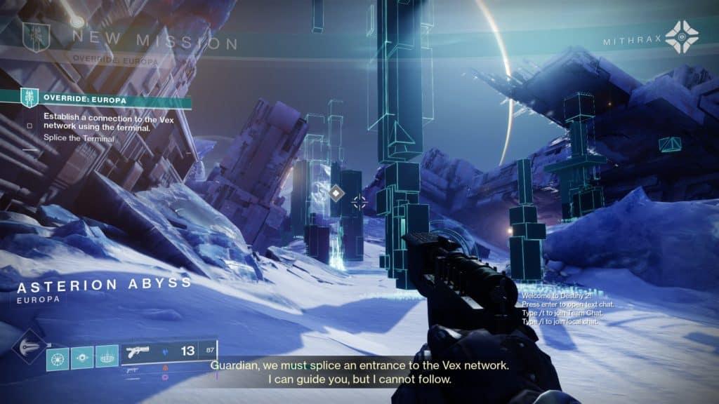 Destiny 2 Override: Europa Mission Start