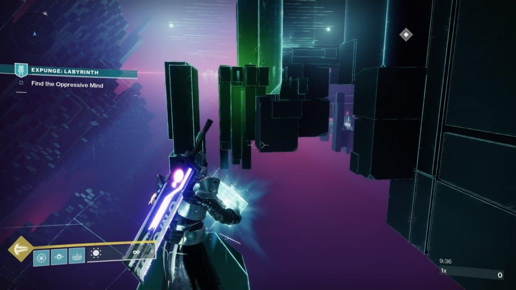 Navigate across the Vex labyrinth in Expunge