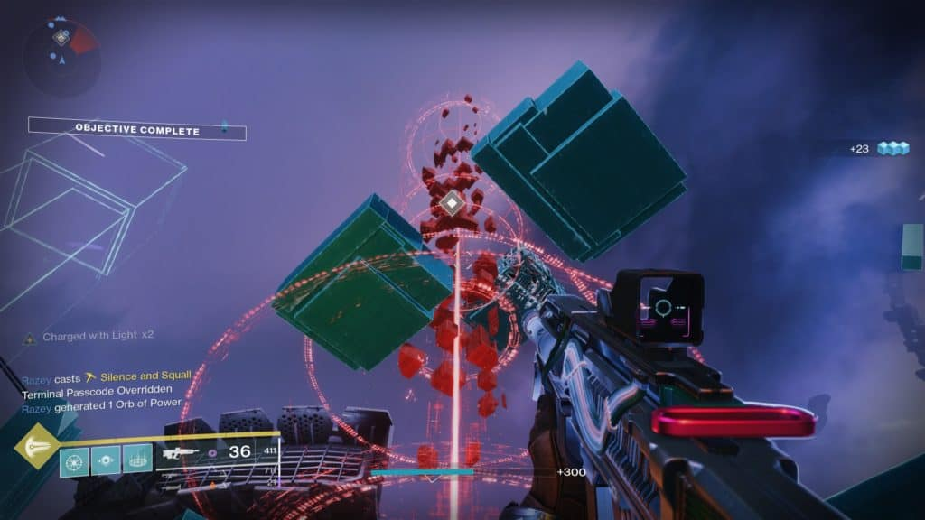 Hack the Vex terminal again in Destiny 2 Override to resume the splicing sequence