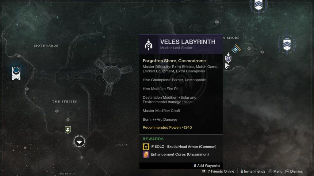 How to Find the Master Lost Sector in Destiny 2
