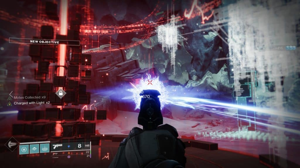 Destiny 2 Override Europa. Regain access to the Vex terminal by destroying the countermeasures.