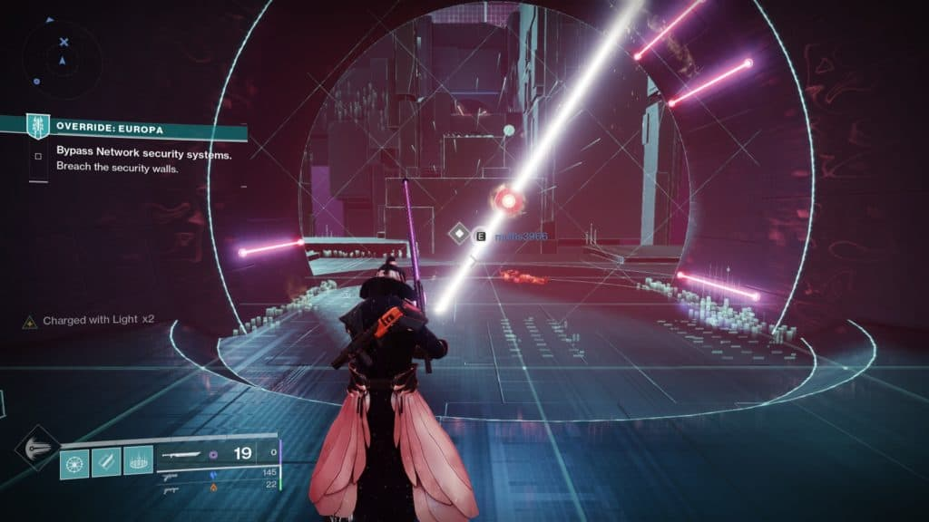 Destiny 2 Override: Europa. Complete the platforming stage to reach the final boss inside the Vex simulation.