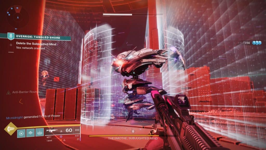 Thesomotae the Subjugated Mind is the final boss in Destiny 2 Override: Tangled Shore