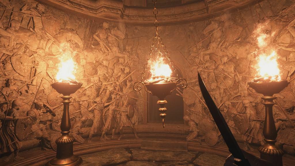 Hall of War Braziers Lit