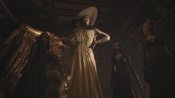 Lady Dimitrescu and her daughters in Resident Evil 8 Village