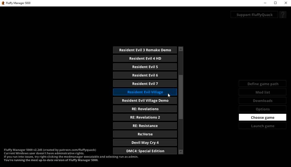 Resident Evill Village is one of the many games supported by Fluffly Mod Manager 5000. This allows you to install the Resident Evil 8 Village Custom Samurai Edge Mod