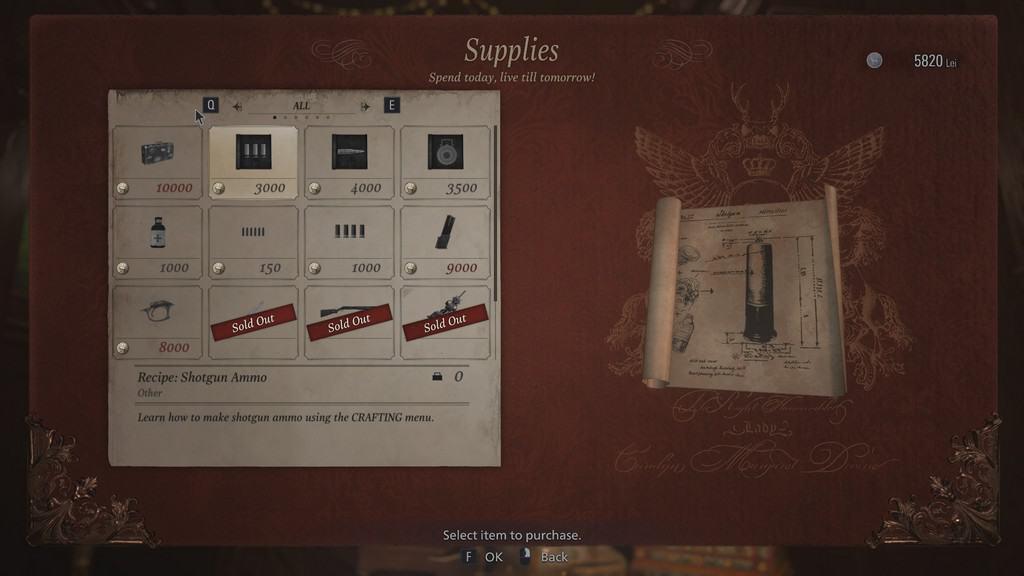Shotgun Ammo Recipe Unlock