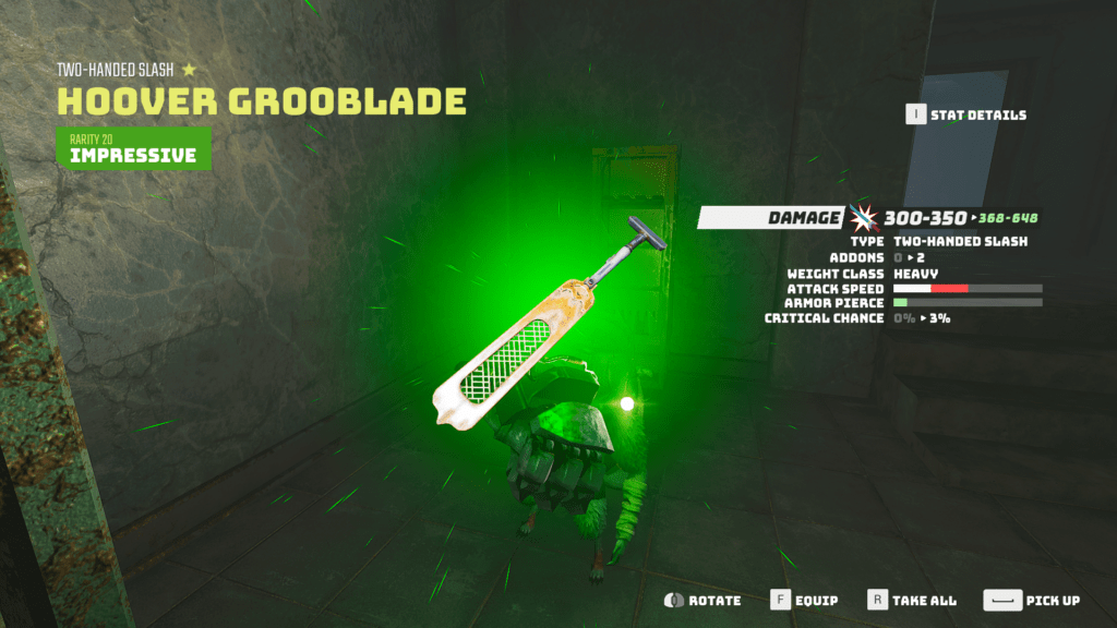 Obtaining the Ultimate Melee Weapon, Hoover Grooblade