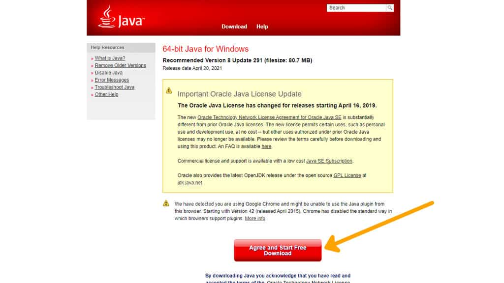 Install Java for Optifine