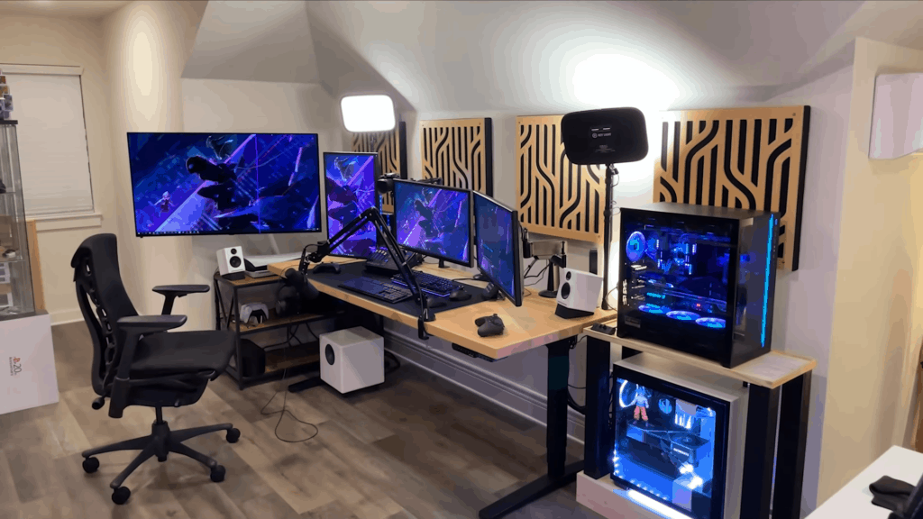 The Ultimate Overkill Gaming and Streaming Station by Nano Tech