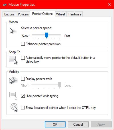 Windows Mouse Settings