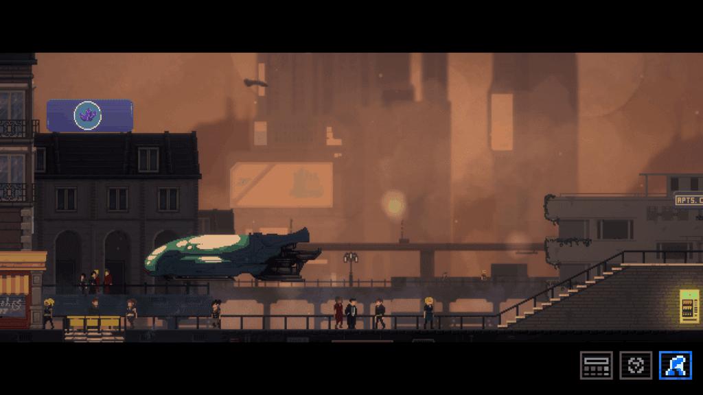 Noir Sci-fi scene