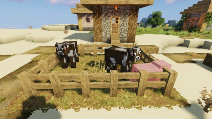 animal pen build with fence