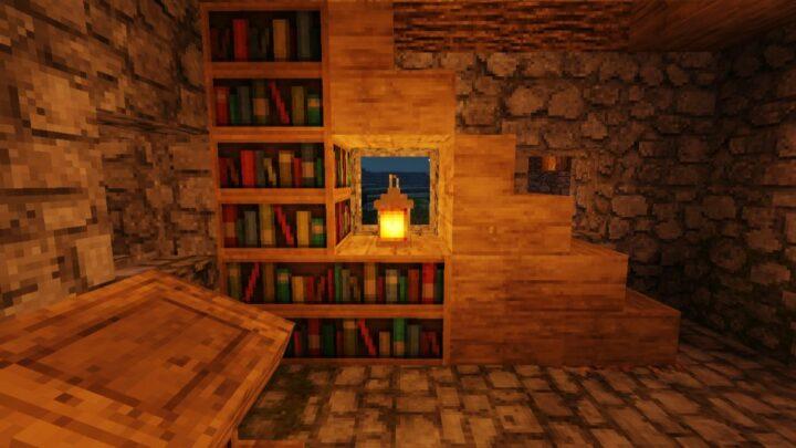bookshelf in the village