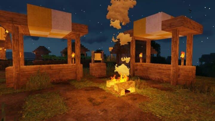 campfire in minecraft