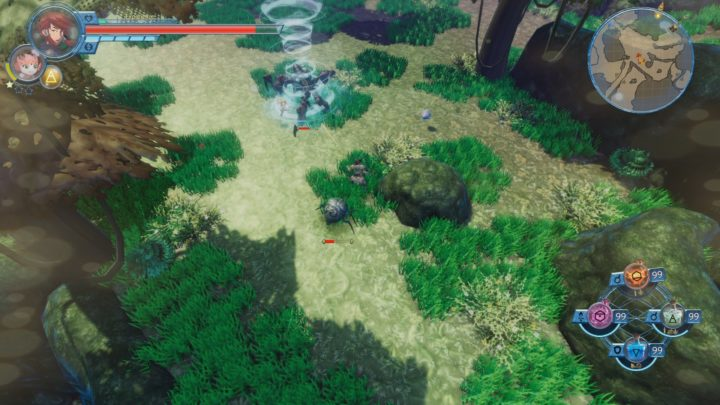 Screenshot showcasing some gameplay, in Alchemist Adventure