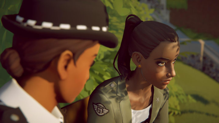 A screenshot from Last Stop showing different characters