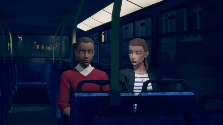 Last Stop screenshot which features one of the main characters