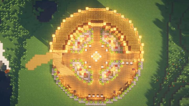 Circular Ground and Underground Minecraft Base Idea