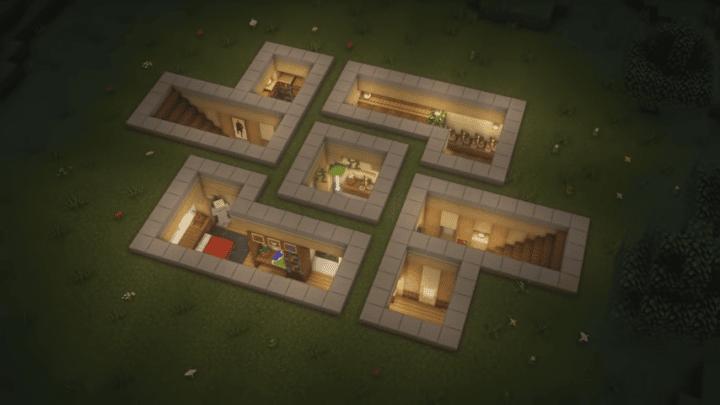 Modern Underground Minecraft Base