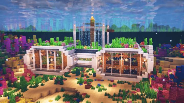 Underwater Base in Minecraft