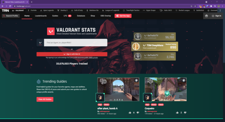 Best Online Way to track Valorant Win Rate