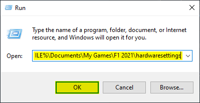 Windows Run allows you to access any location in your PC, potentially helping in fixing the F1 2021 crash at launch issue