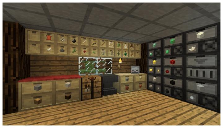 Storage Drawers for Minecraft Best Storage Mods
