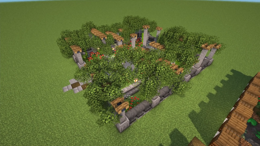 Castle Garden in Minecraft