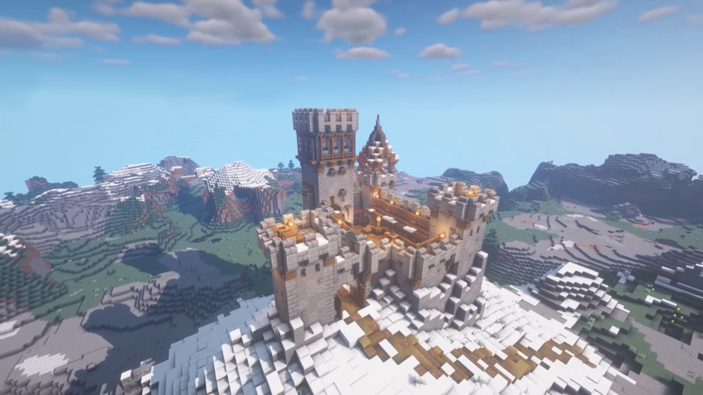 Minecraft Mountain Castle Ideas Multiplayer