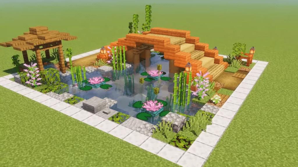Koi Pond Minecraft Garden