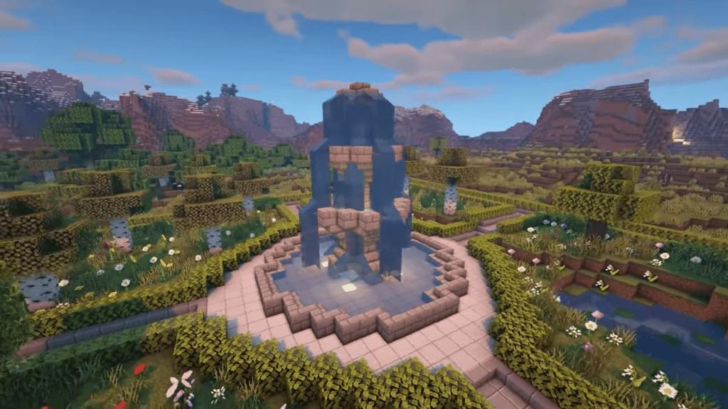 Minecraft Courtyard Garden