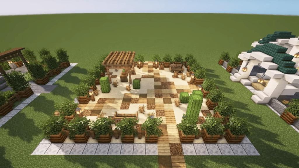 Desert Minecraft Garden