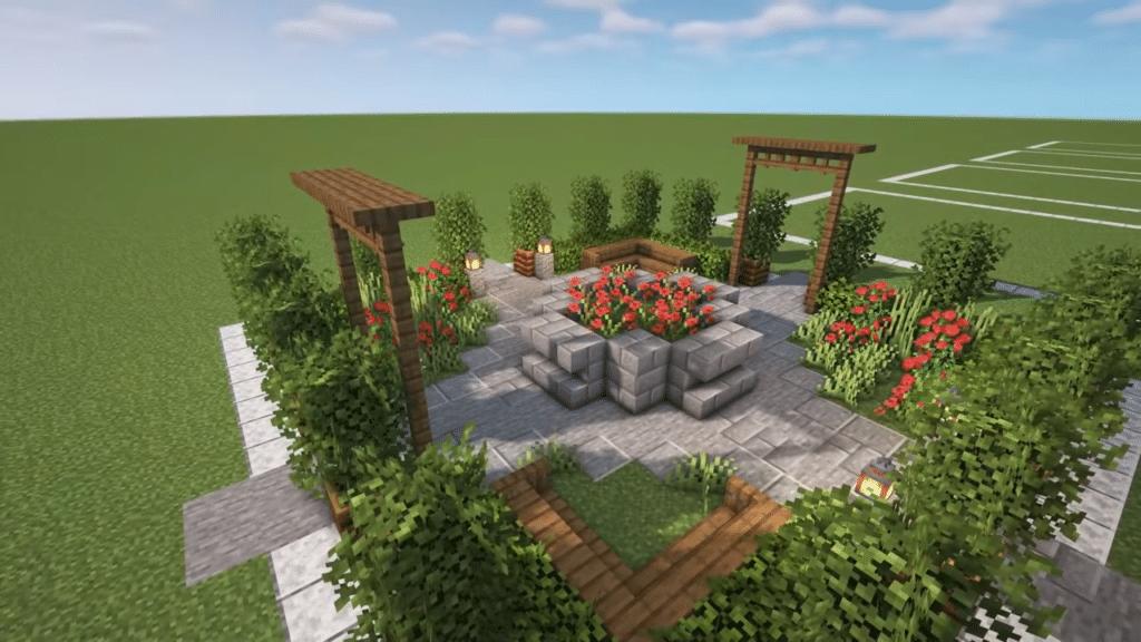 Paved Rose Minecraft Garden