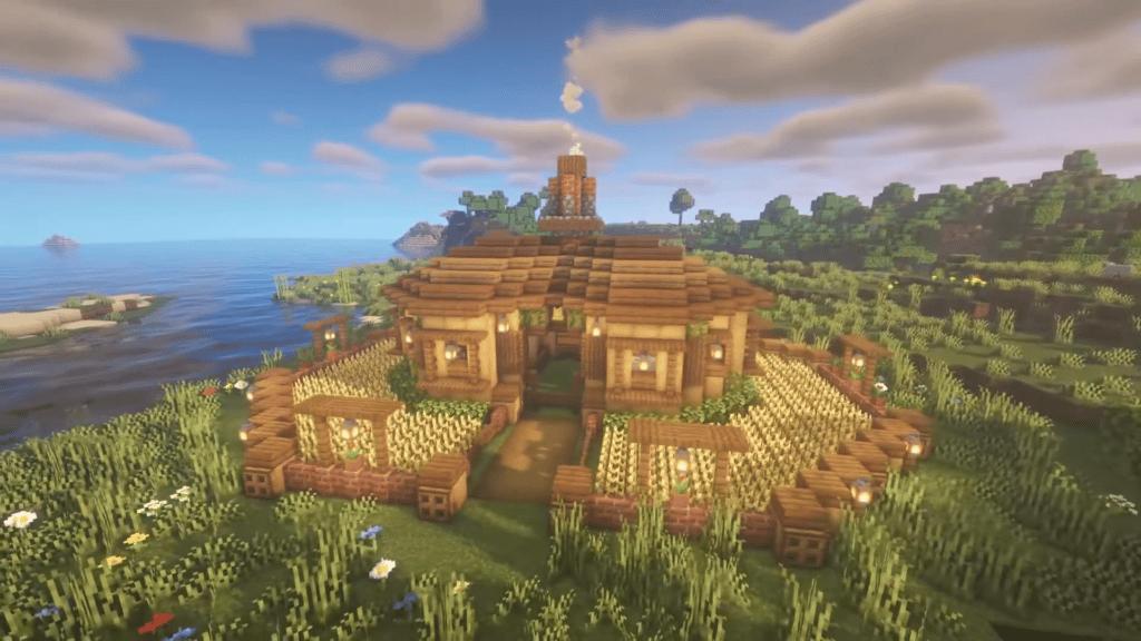 Minecraft Animal Pen Crop Barn Survival