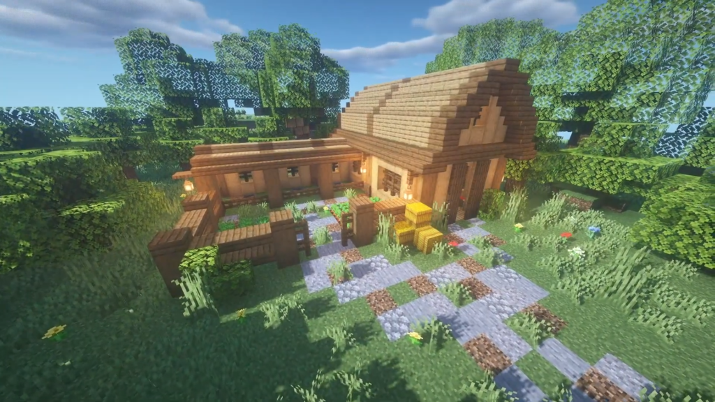 Horse Stable Minecraft Barn Design 1.17