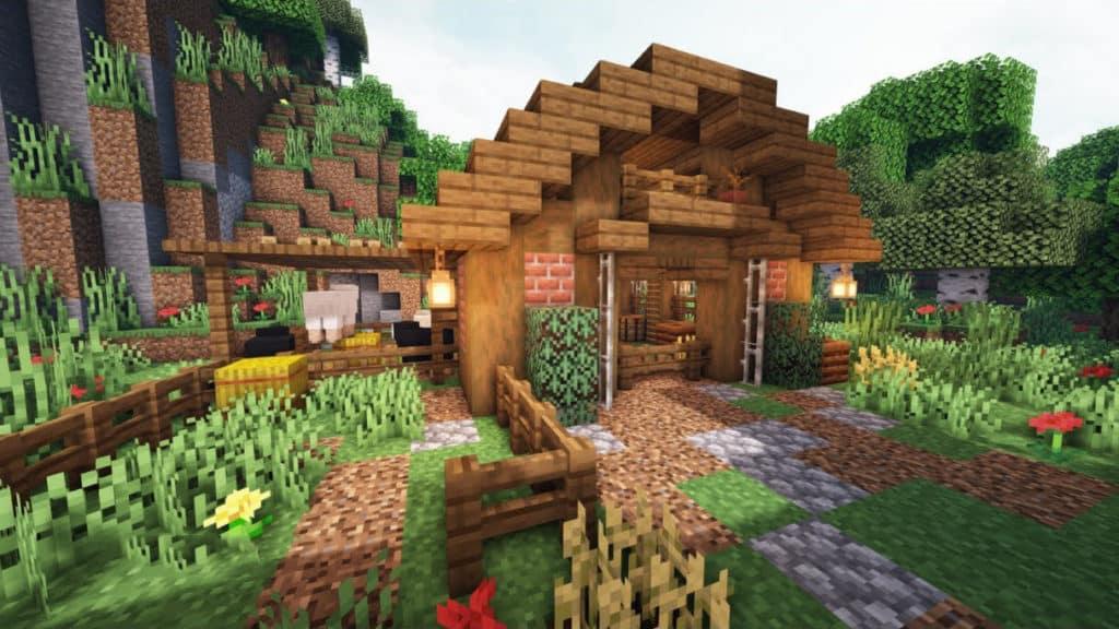 Minecraft Small Barn Building Idea Survival