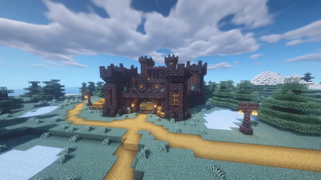 Minecraft Blackstone Castle Design
